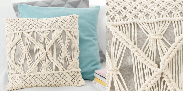 le coussin en macram femme actuelle le mag. Black Bedroom Furniture Sets. Home Design Ideas