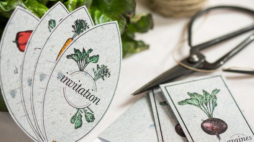 Un déjeuner jardinier : étiquettes à imprimer