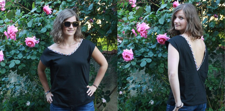 Couture facile : un tee-shirt dos nu