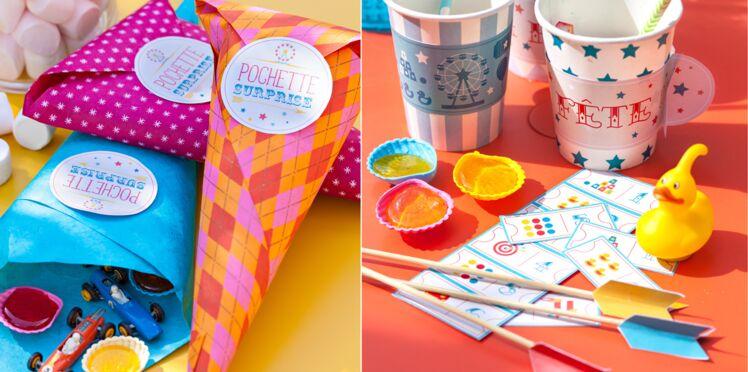 Déco de table kermesse : étiquettes gratuites à imprimer