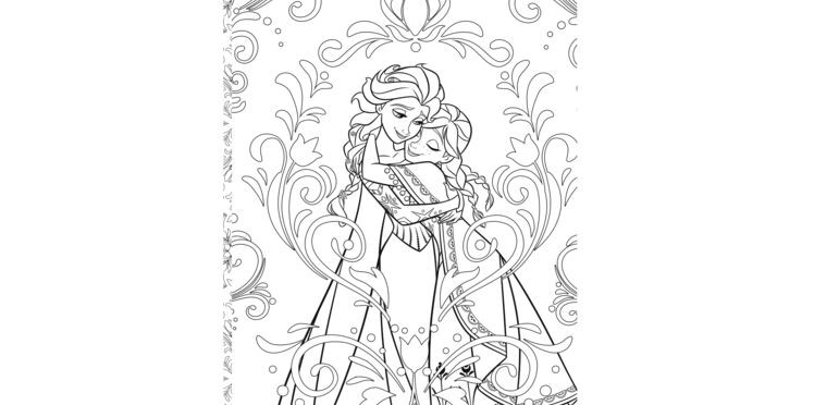 La Reine de Neiges : coloriage gratuit à imprimer