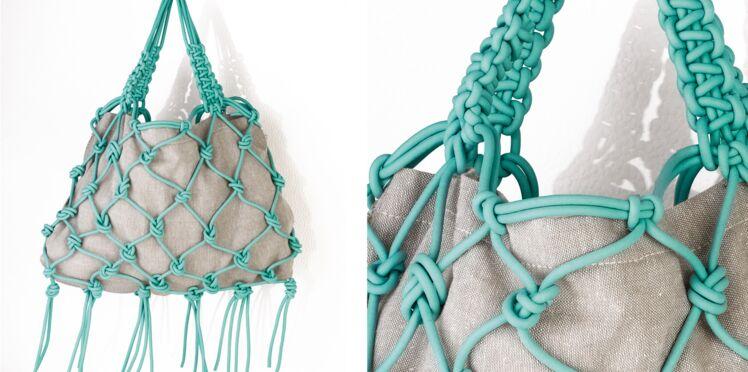 Le sac à franges en macramé