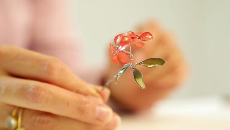 Fleurs artificielles : des fleurs vernies