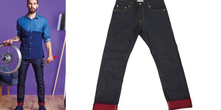 Custo de jeans : des ourlets teints