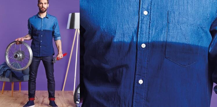 La chemise jeans en teinture