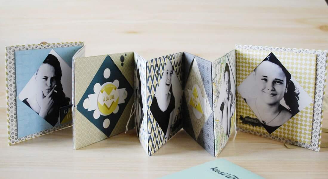 Un mini album photos en origami
