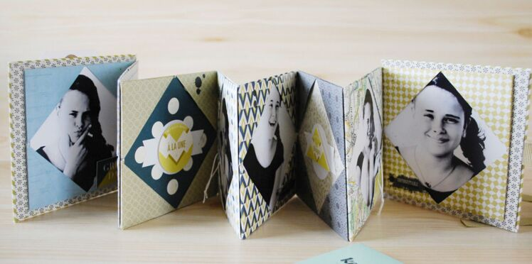 Un mini album photos en origami