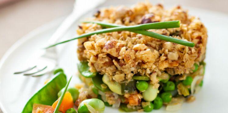 Crumble de légumes aux noisettes