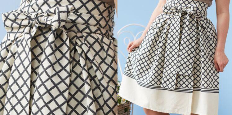 Upcycling : une jupe plissée avec une nappe