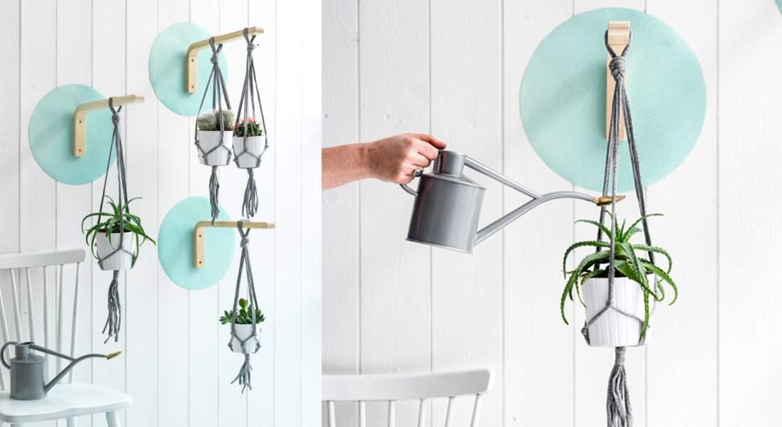 Réaliser un jardin suspendu avec un tabouret IKEA