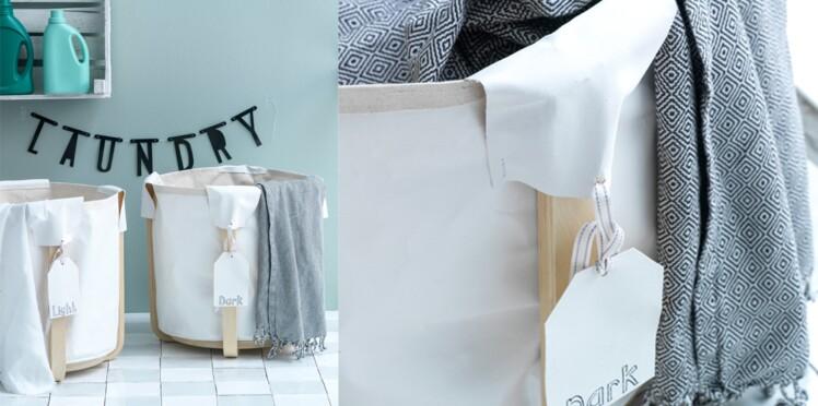 Réaliser des bacs à linge avec un tabouret IKEA