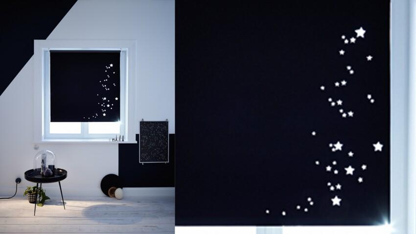 Réaliser des rideaux étoilés