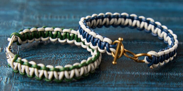 Bracelet tressé : le modèle macramé