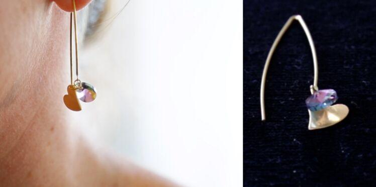 Réaliser des boucles d'oreilles fil en perles Swarovski