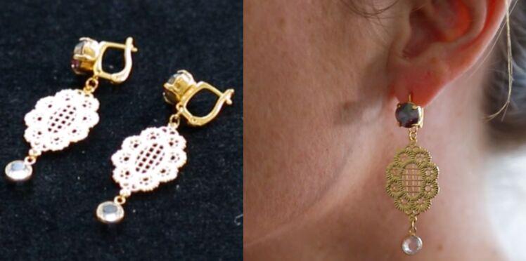Réaliser des boucles d'oreilles dormeuses en perles Swarovski