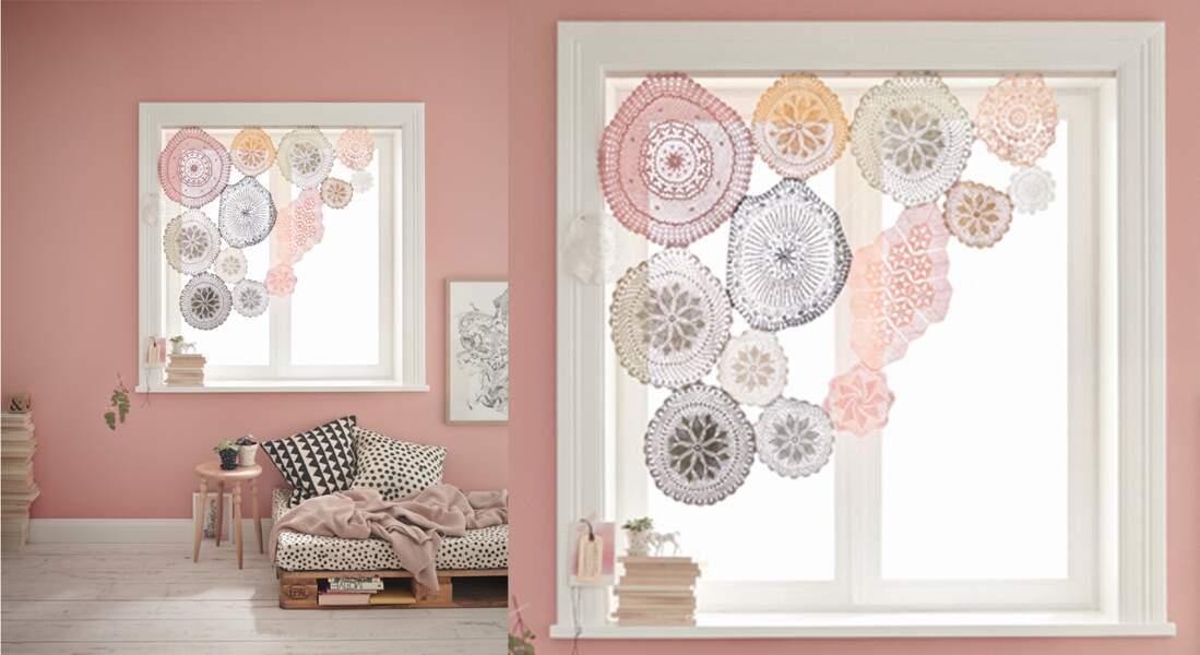 Je décore ma fenêtre avec... des rideaux vintage