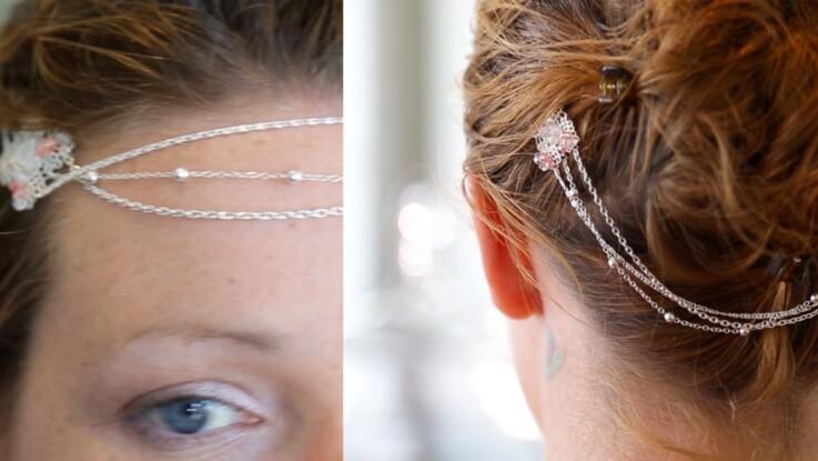 Réaliser un bijoux de tête avec Swarosvski