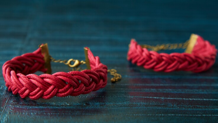 Bracelet tressé : le modèle double tressage