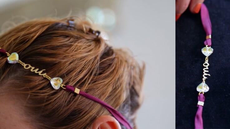 Réaliser un headband de mariage en perles Swarovski
