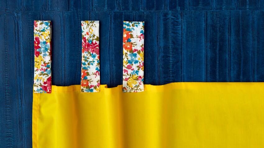 Apprendre la couture d'un rideau et de passants