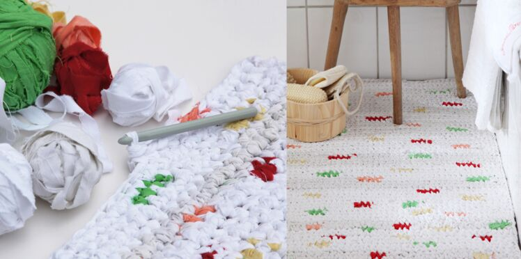 Upcycling : un tapis au crochet