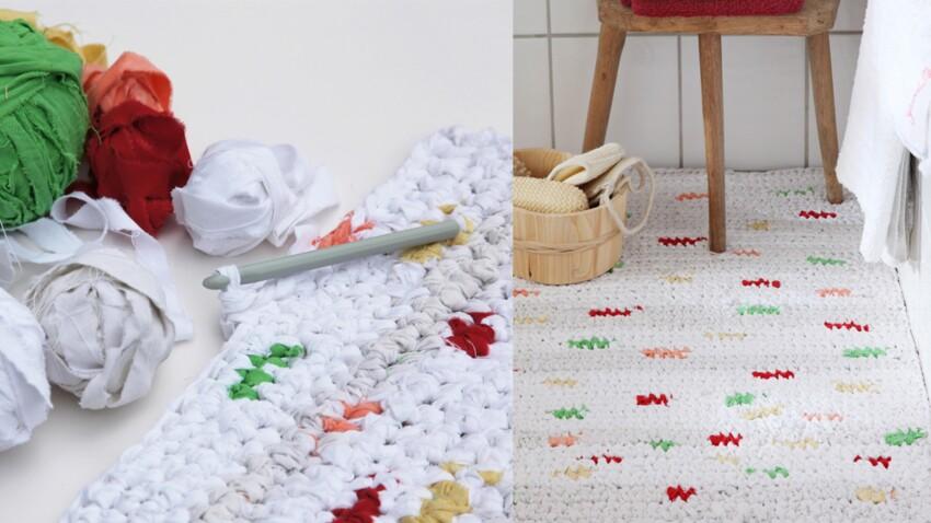 Upcycling : un tapis au crochet
