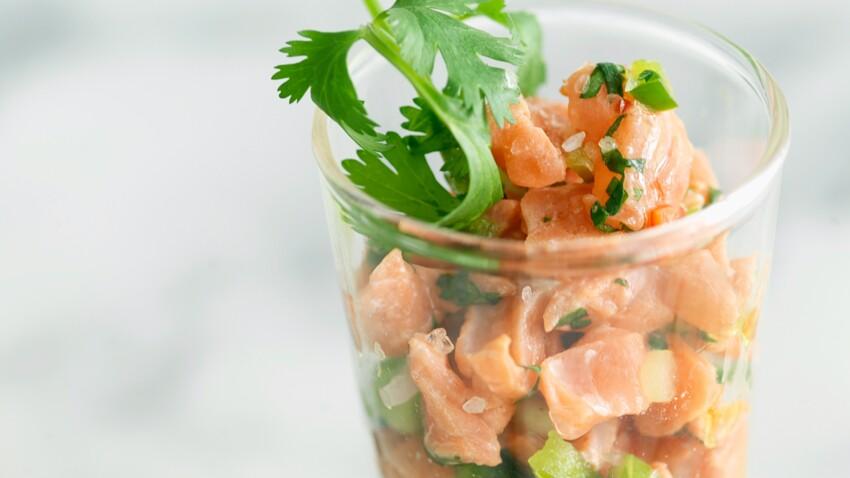 Ceviche de saumon aux poivrons