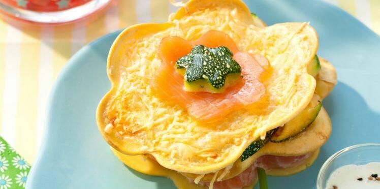 Lasagnes de courgettes aux deux saumons