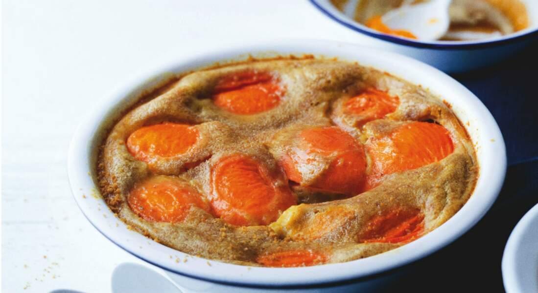 Clafoutis aux abricots et pain d'épices