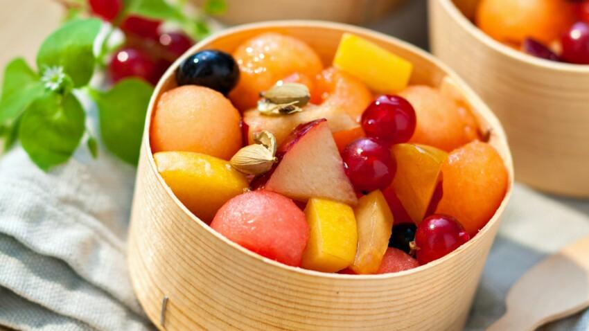Salade de fruits au miel et cardamome