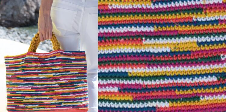 Le sac multicolore au crochet