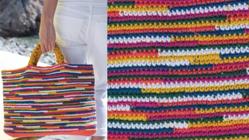 Le sac multicolore au crochet