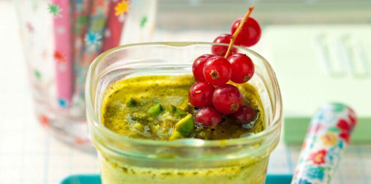 Yaourt au soja et pistache