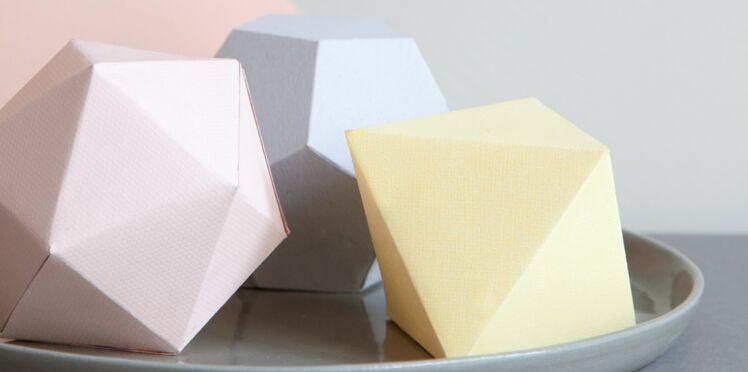 Décoration en papier : formes en 3D à imprimer gratuitement