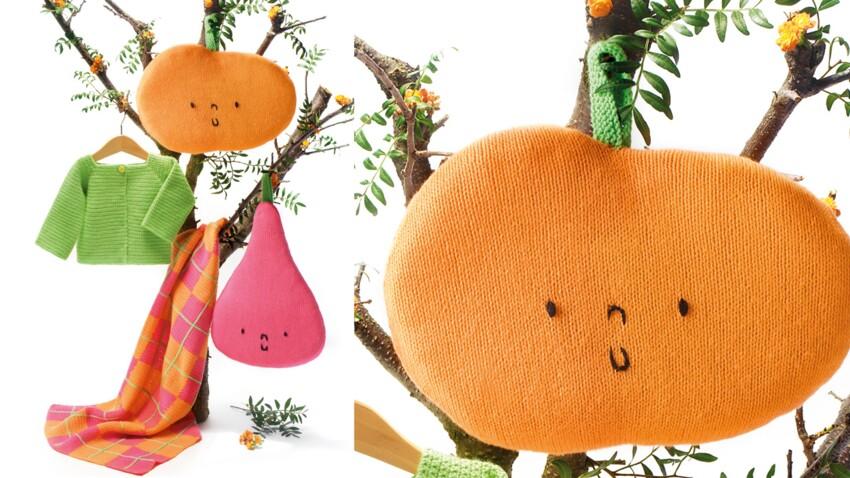 La pomme tricotée