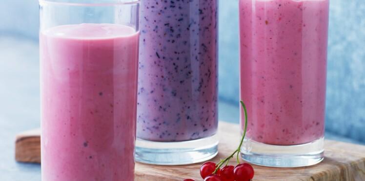 Trio de smoothies aux fruits rouges