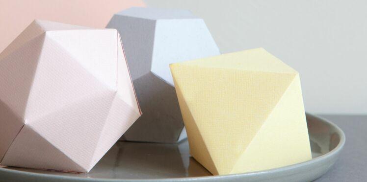 Forme 3D à imprimer gratuitement : octoaèdre en vidéo