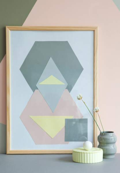 Une déco pastel et géométrique : les œuvres abstraites