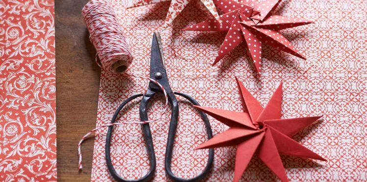 Origami de Noël : l'étoile à 8 branches