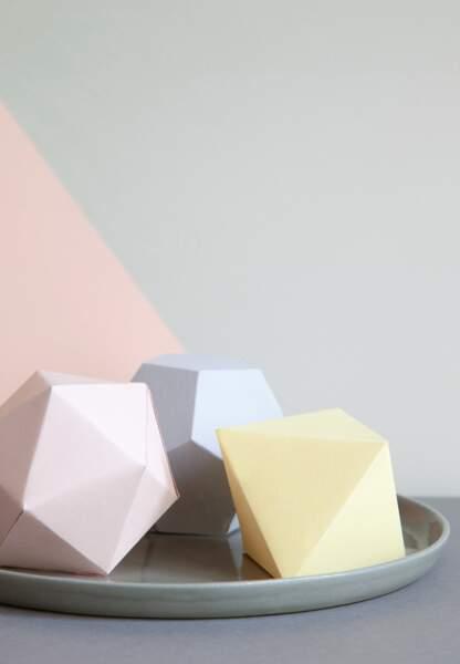 Une déco pastel et géométrique : les formes en 3D