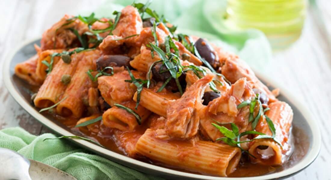 Rigatoni sauce épicée au thon