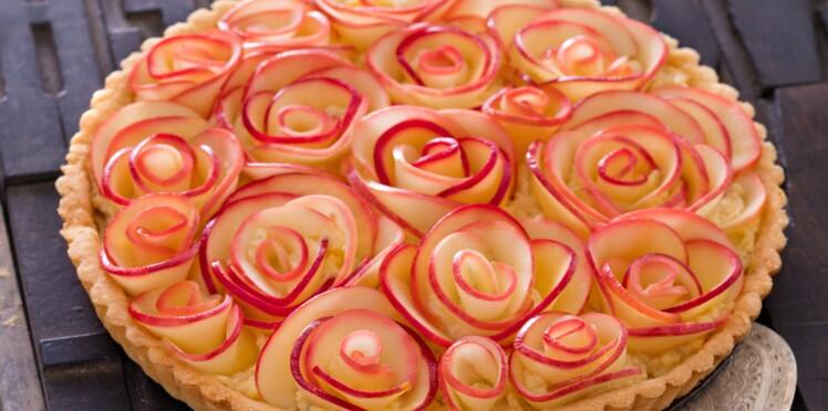 Tarte bouquet de rose façon Alain Passard