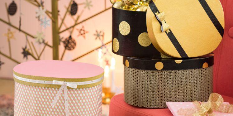 Trio de boîtes cadeaux pour Noël