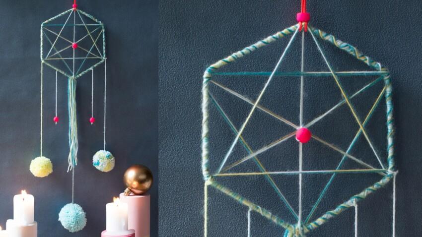 A offrir pour Noël : un dreamcatcher à pompons