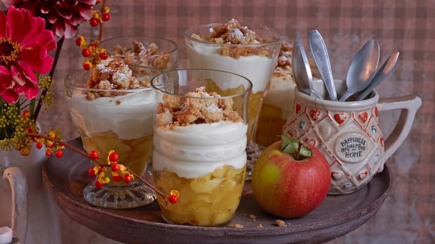 Crumble de pommes au miel