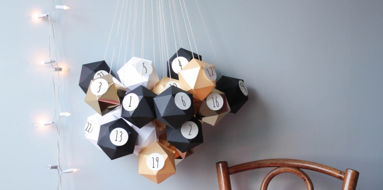 Calendrier de Noel : un bouquet d'origami