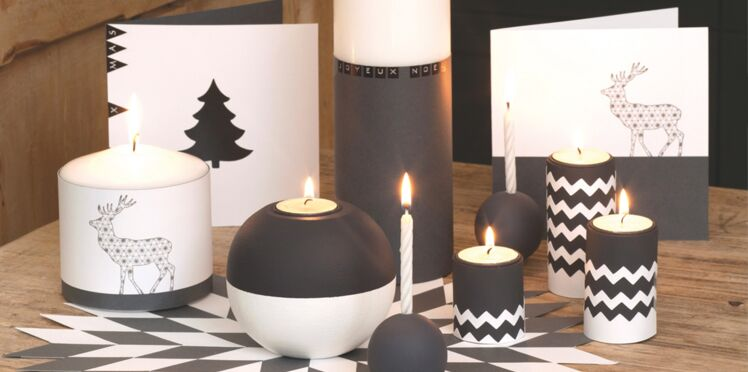 Activité manuelle de Noël : cartes graphiques en noir et blanc