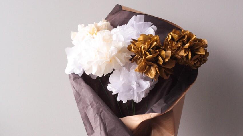 Activités manuelles de Noël : un bouquet de papier de soie