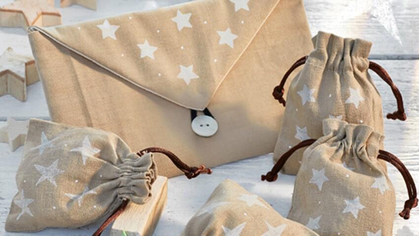 Créations de Noël : des pochettes étoilées