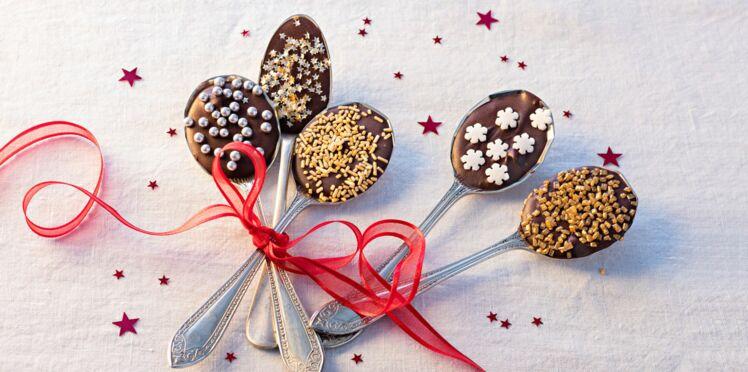 Cadeau d'assiette : des cuillères chocolatées